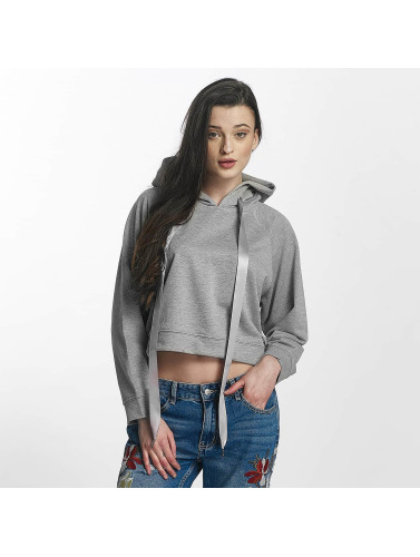mode en ligne Sixième Juin Mujeres Sudadera Recadrée En Gris faire du shopping vente énorme surprise sexy sport hfDjsWaL