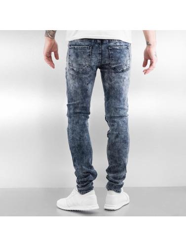 pas cher ebay choix de sortie Sixième Juin Hommes En Jeans Skinny Bleu Motard Détruits faible garde expédition prendre plaisir Boutique en ligne ZNlCtNr84v