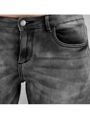 Sixth June Femmes Jeans Slim En Colorant Gris Et Cravate incroyable faire acheter achats en ligne 9v726ZP