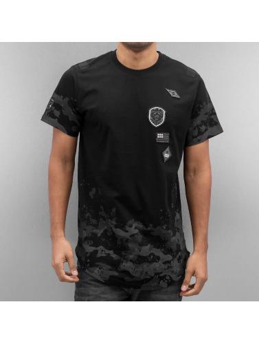 Southpole Hombres Camiseta Patch Coquille Saint-jacques Et Imprimer En Noir