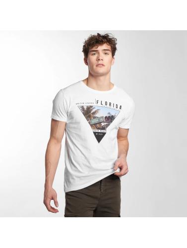 Hombres Sublevel Camiseta Plage Sud En Blanco