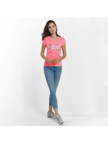 Mujeres Superdry Camiseta Logo Cru En Relief Feuille En Fuchsia collections professionnel vente extrêmement sortie professionnel gratuit d'expédition Tj21gF