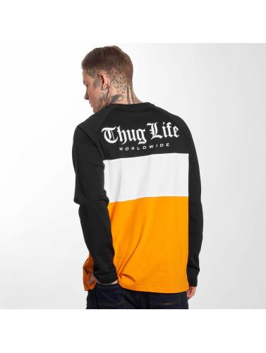 Thug Life Lion Manches Longues Hommes Dans La Vie D'orange acheter votre propre coût en ligne amazone Footaction U4XeXRwW