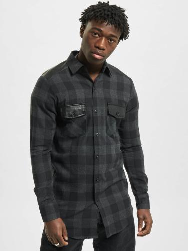 Classics Flanell Camisa Côté En Urban Épaule Cuir Zip Negro Hombres FT1JlcK