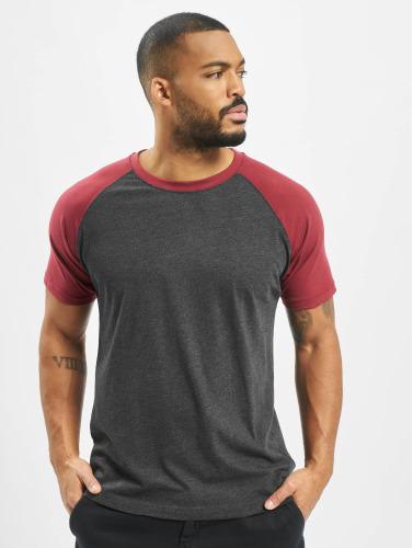 Classiques Urbains Hombres Camiseta Raglan Contraste Gris parfait fIh93CS8S