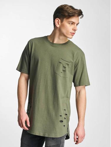 Classiques Urbain Hombres Camiseta Déchiré Poche À Oliva nouveau pas cher kIKK7ZUPDq