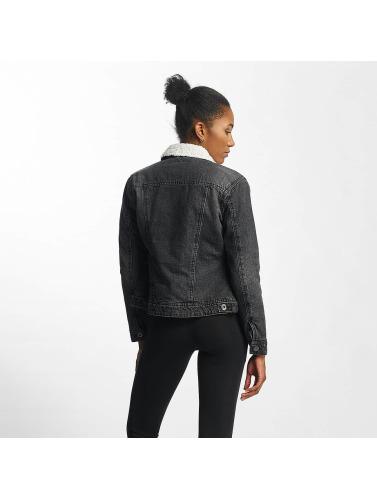 Urban Classics Femmes Sherpas Denim Denim Veste En Noir amazon pas cher offres de liquidation à jour sortie à vendre prix d'usine 3SUnkg