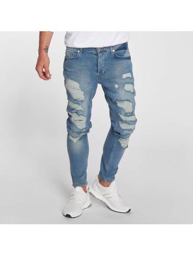 Hombres Vsct Clubwear Jean Ajustado Thor Dans Azul
