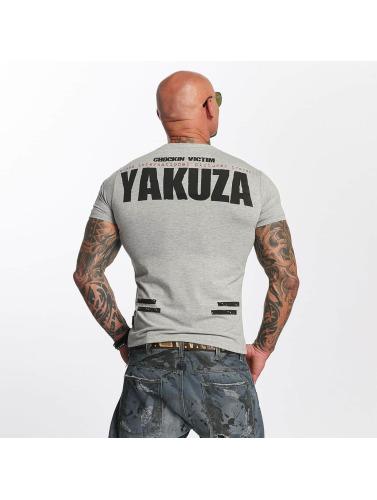 meilleur prix Hommes Yakuza Victime Dans Chockin Chemise Grise pas cher véritable 1RoUdt