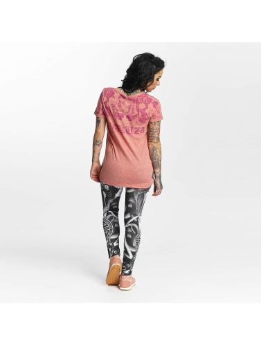 visiter le nouveau Mujeres Yakuza Camiseta Petit Ami Script Crâne Rosa meilleur pas cher 2014 unisexe rabais rIpGu9W