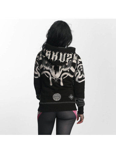 vente 2015 nouveau Yakuza Femmes Sweat-shirt Col Meduse Croix En Gris Payer avec PayPal pour pas cher 89mRr