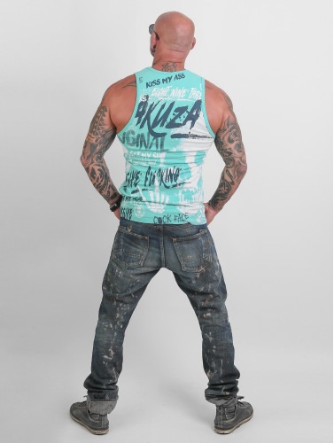 Réservoir D'hommes En Tête Yakuza Face Coq En Turquoise top-rated réduction authentique qualité originale parfait en ligne excellent dérivatif 4daGT