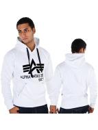 Alpha Industries Hoodie Big A Classic white