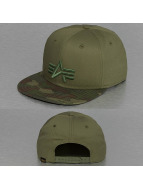 Alpha Industries Snapback Cap Camo Logo camouflage