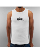 Alpha Industries Tank Tops white