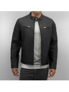 Bangastic Leather Jacket Quilted black