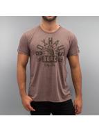 BOXHAUS Brand T-Shirt Cruz brown