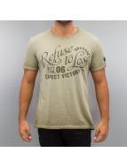 BOXHAUS Brand T-Shirt Draw khaki