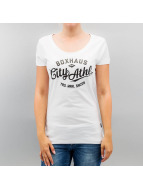 BOXHAUS Brand T-Shirt Lara Lee white