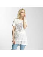 Brave Soul Hotfix Stud Skull T-Shirt Cream