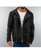 Cipo & Baxx Leather Jacket Stepp black