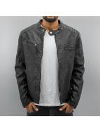 Cipo & Baxx Leather Jacket Fake Leather black