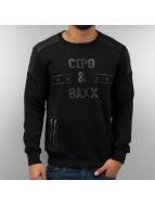 Cipo & Baxx Pullover Star black