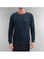 Clang Pullover Oilwashed Knitted blue