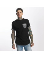Criminal Damage T-Shirt Chequer Pocket black