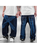 Dangerous DNGRS Baggy jeans Cross blauw