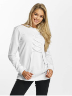 DEF Pullover lace white