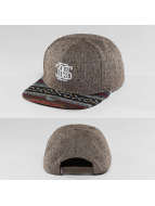 Djinns Snapback Cap Indo Spots 6 Panel brown