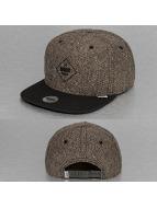 Djinns Snapback Cap Rubber Tweed 5 Panel khaki