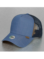 Djinns Trucker Cap Linen 2014 High Fitted blue