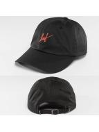 HUF Snapback Cap Script Curve Visor 6 Pannel black
