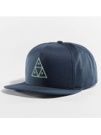HUF Snapback Cap Triple Triangle blue
