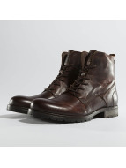 Jack & Jones jfwOrca Leather Boots Brown Stone