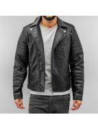 Jack & Jones Leather Jacket black