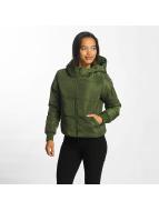 JACQUELINE de YONG Winter Jacket jdyRocca Cropped Hoody green