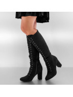 Jumex Boots-1 Overknee Lace Up black