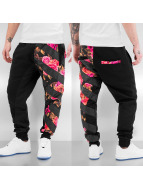 Roses Sweat Pants Black...