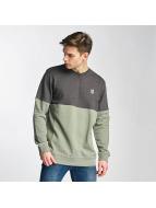 Two Tone Sweatshirt Oliv...