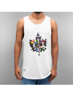 K1X Tank Tops Glitch Logo white