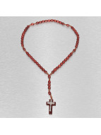 Kaiser Jewelry Necklace Wood Rosary Cross red