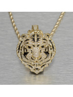 KING ICE Necklace Jungl Julz Bengal Tiger gold