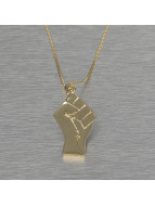KING ICE Necklace Raised Fist gold