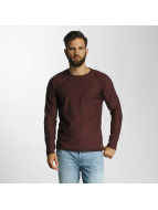 Lindbergh Pullover Striped Loose Knit red