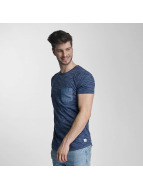 Lindbergh T-Shirt Space Dyed O-Neck blue