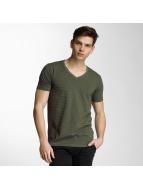 Lindbergh T-Shirt Stretch V-Neck olive