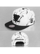 Mitchell & Ness Snapback Cap Leather White And Black Marble Mighty Ducks white